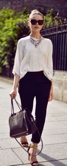 #street #style minimal black and white outfit @wachabuy