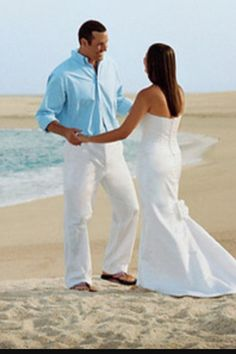 Men turquoise shirts white pants or shorts