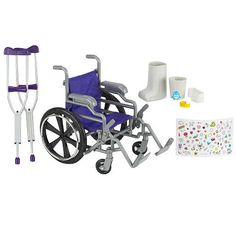 """Journey Girls Wheelchair and Crutch Set - Toys R Us - Toys """"R"""" Us ($26.99)"""
