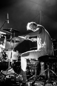 Josh Dun of Twenty One Pilots in Cleveland, OH. full set- http://adamelmakias.com/live/photos-of-twenty-one-pilots-live-in-cleveland-ohio/
