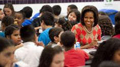 """""""...when parents are working hard to teach their kids healthy habits at home, their work shouldn't be undone by unhealthy messages at school,"""" says first lady Michelle Obama about new rules to curb how kids are sold junk food at school. 