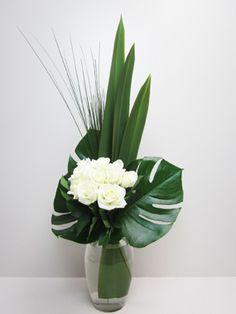 Urban White Rose Bouquet