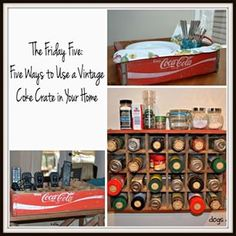 Got an old soda crate? Today's Friday Five is five ways to use an old Coke crate in your home. #repurpose #DIY