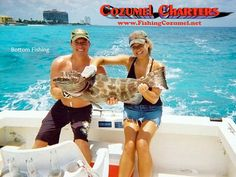 Cozumel Charters offers family-friendly bottom fishing trips for Grouper, Snapper, Triggerfish and more.  Fishing & Snorkeling combos too!  www.fishingcozumel.net
