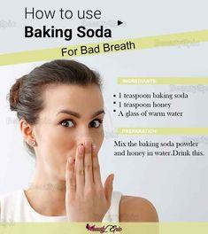 Baking soda for bad breath