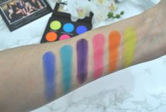 Laura Lee Los Angeles Party Animal Palette Swatches Makeup Swatches, Laura Lee, Animal Party, Palette, Make Up, Beauty, Shades, Makeup Samples, Pallet