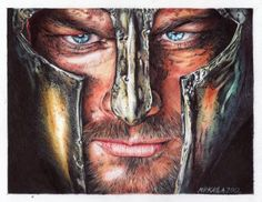 Spartacus ballpoint pens on rough paper