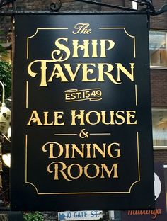 Portfolio > Pub Signs: Signs for pubs, restaurants and hotels with traditional signwriting and gold leaf. Restaurant Signs, Pub Signs, Modern Restaurant, Restaurant Interior Design, Shop Signs, Patio Signs, Sign Fonts, Home Pub, Signwriting