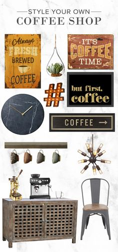 Java lover? Perk up with brew-inspired styles (and caffeine) fix with deals on coffee shops must-haves. Find all of your Coffee Shop essentials at AllModern. Visit today and sign up for exclusive access to sales plus FREE SHIPPING on orders over $49.
