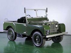 1950 Land Rover 81 Prototype with Rolls Royce engine. Designed by Hudson. Land Rover Serie 1, Land Rover Defender 110, Landrover Defender, Jaguar, Carros Suv, 4x4, Volkswagen, Off Road, Truck Camper