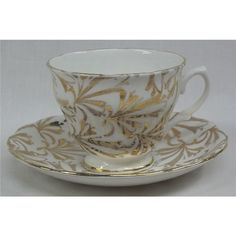 Vintage elegant fine bone china gold luster tea cup and saucer | Oxfam GB | Shop