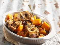 From the YOU test kitchen: Beef shin, pumpkin and sweet potato braise Mince Recipes, Beef Recipes, Cooking Recipes, Recipes Dinner, South African Recipes, Ethnic Recipes, Test Kitchen, Pot Roast, Food Inspiration