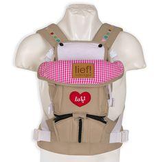 Schöne #Babytrage von Lief - mit vielen liebvollen Details - auch super zur #wiesn - 3 Way Carrier Lief Girl | Babyartikel.de