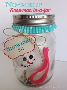 Christmas Craft for Kids: Snowman-in-a-Jar | simplykierste.com