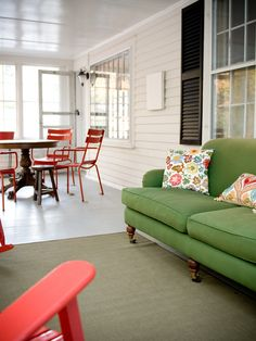 Green Sofa Design, Pictures, Remodel, Decor and Ideas - page 5