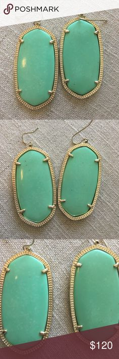 Kendra Scott mint Danielle earrings No longer sold. Perfect condition, worn once. Will ship with KS bag. 🚫TRADES Kendra Scott Jewelry Earrings