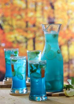 Revitalize with Deep Blue Sea Mojitos!
