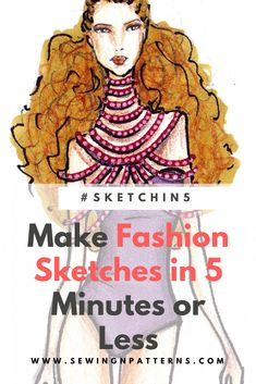 Learn how to make fashion sketches in 5 minutes. step by step fashion illustration for beginners. Download your free templates here >>>>>>>>>