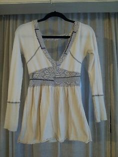 Free People Cream Ivory White Sweater Size S