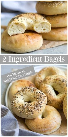 Flour Recipes, Ww Recipes, Healthy Recipes, Bread Recipes, Healthy Snacks, Recipies, Dinner Recipes, Veggie Keto, Homemade Bagels