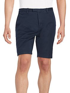 Slim-Fit Stretch Cotton Shorts