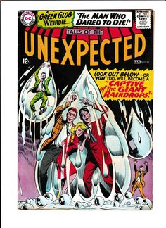 "TALES OF THE UNEXPECTED #92  [1966""CAPTIVE OF THE GIANT RAINDROPS!"""