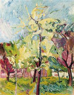 bofransson:    CUNO AMIET (1868 - 1961)Blühende Bäume, 1922