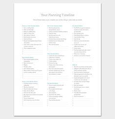 Event Timeline Template   For Word Excel Ppt Pdf Format