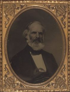 """Mr. Joseph Hopping Frothingham of Salem, Massachusetts. Ambrotype, Embossed in the metal frame in the lower left is, """"Ambrotype by Bowdoin"""""""