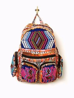 bohemian backpack Free People boho style. I gotta have it for sure. With this colors i'm in love