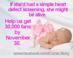 Have you liked the Cora's Story Facebook page? http://www.facebook.com/Coras.Story