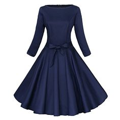 Luouse Audrey Hepburn 3/4 Sleeve 1950s Vintage Rockabilly Dress Blue Large Luouse http://www.amazon.com/dp/B016PP8W3K/ref=cm_sw_r_pi_dp_KOpQwb1VM2HPE
