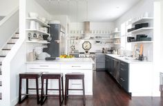 Dream Small: How to Design Small Spaces  --> the perfect petite kitchen #design and more on Interior Collective Caesarstone!