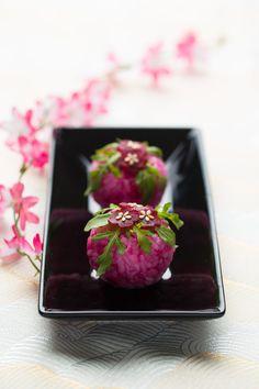 Temari-sushis-beet #plating #presentation