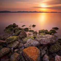 Landscapes photo by Saša Čuka Landscape Photos, Beautiful Places, Sunset, Water, Photography, Outdoor, Inspiration, Image, Landscapes