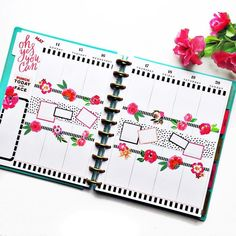 Center spread goals planner, planner tips, planner layout, life planner To Do Planner, Mini Happy Planner, Cute Planner, Planner Tips, Planner Layout, Planner Supplies, Goals Planner, Fitness Planner, Weekly Planner