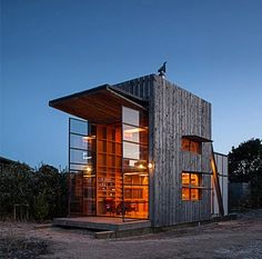 verical tiny house design love the giant windows