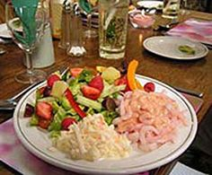 Prawn Salad with a Raspberry and Mustard Dressing - from Priskilly Forest Country House, Pembrokeshire  http://www.little-places.co.uk/recipe-prawn-salad-with-a-raspberry-and-mustard-dressing