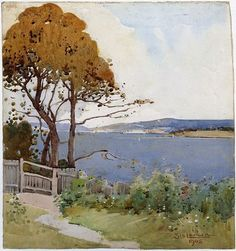 An image of Harbour view by Sydney Long