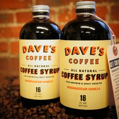 Vanilla Coffee Syrup 2 Pack by Dave's Coffee