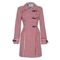 TRINITY - Houndstooth Semi-fitted Coat - Coats & Jackets from Ness Clothing