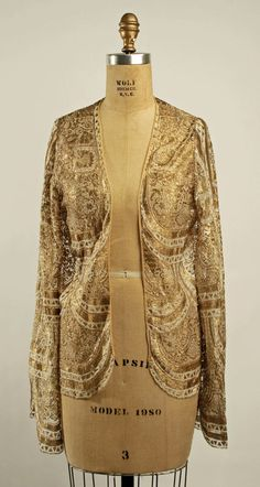 Late 1920s vintage evening jacket