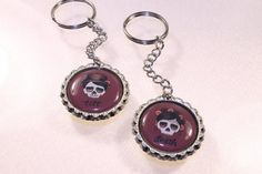 A pair of Non Custom Image Keychains for $5.98 (or 2.99 for one)   https://www.facebook.com/HipCapsJewelry