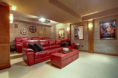 Rustic home theatre room. 1052 Valley Crest Circle, Oakville