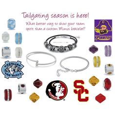 Tailgating season is here! What better way to show your team spirit than a custom AZULI SKYE Mimzi bracelet? Choose your own bracelet and beads! Mimzi beads available in tons of colors!  azuliakye.com/julie