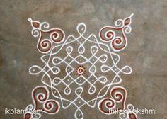 sikku kolam - rangoli with dots Indian Rangoli Designs, Rangoli Designs Flower, Rangoli Border Designs, Rangoli Patterns, Rangoli Ideas, Rangoli Designs Images, Rangoli Designs With Dots, Kolam Rangoli, Flower Rangoli