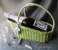 """Корзина""""Свежая мята"""" для шампанского , вина...Заказы принимаются здесь http://www.livemaster.ru/myshop/irinkamaster"""