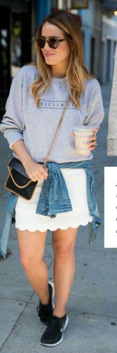 Julia Hengel - white skirt