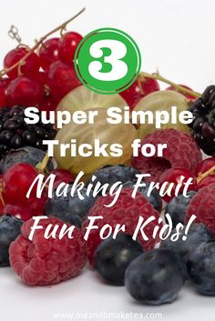3 Super Simple Tricks for Making Fruit Fun! Below are somebefore and aftersnaps of prepping an easy fruit salad. If you struggle to get your little one to try new things, why not try something a bit different. This type of food prep can be done using fruit, veg, savoury and sweet food. Anything you like really! Check out some other fun fruit inspiration here:Watermelon Windmills,Kiwi CarsandFruity Fish and Chips.