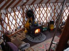 Výsledek obrázku pro stove yurt